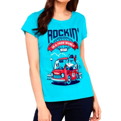 Camiseta feminina Rockin' in a free World