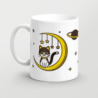 Caneca Gato lunar