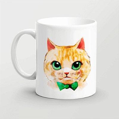 Caneca Gato em aquarela