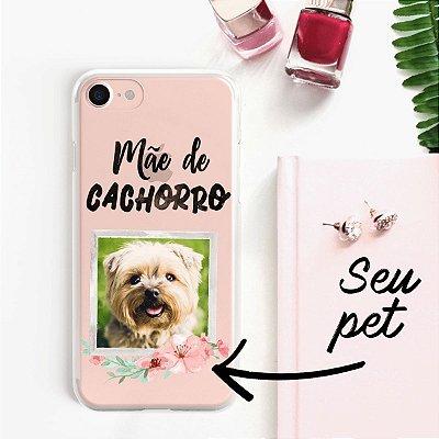 Capa transparente com personalização mãe de cachorro