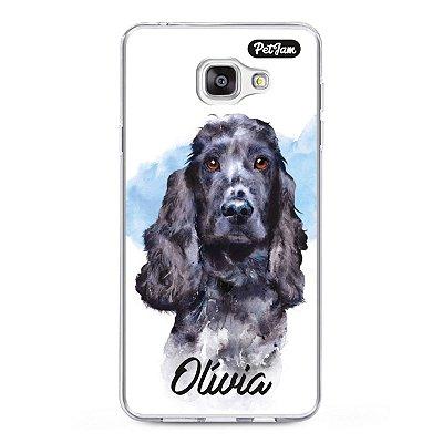 Case de celular personalizado em estilo Aquarela