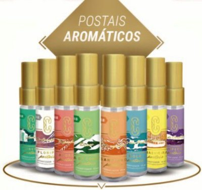 Postais Aromáticos kit 8 unidades
