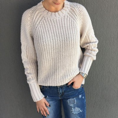 Blusa Tricot Ampla Trança Comphy Off Ice