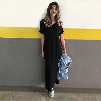 Vestido Longo Comphy All Black