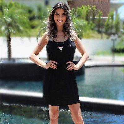 Vestido Costas Nadador Comphy All Black
