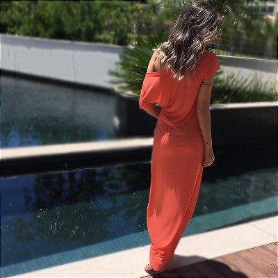 Vestido Longo Barra Mullet Comphy Coral