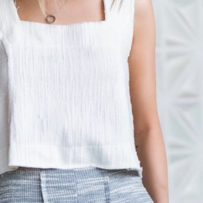 Cropped Rústico Branco