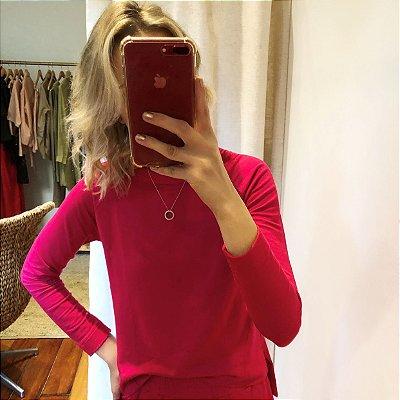 Camiseta Moletom M/L Fibras Naturais Pink