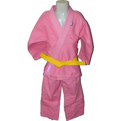 Kimono Jiu jitsu Infantil Trançado KMZ Rosa
