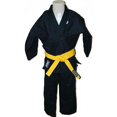 Kimono Jiu jitsu Infantil Trançado KMZ Preto