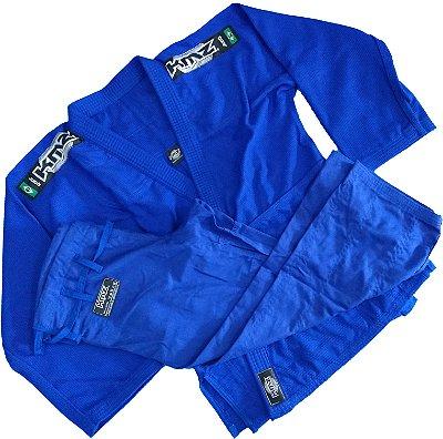 Kimono Judo Adulto Trançado Leve KMZ Azul