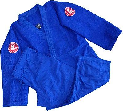 Kimono Judo Adulto Trançado Pesado Kamikaze Azul