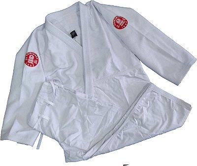 Kimono Judo Adulto Trançado Pesado Kamikaze Branco
