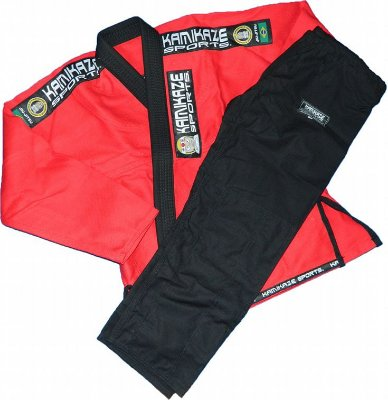Kimono Kamikaze Sports Tradicional verm/preto
