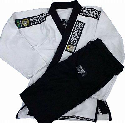 Kimono Kamikaze Tradicional branco/preto