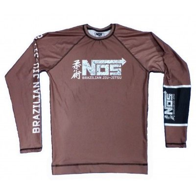 Rash Guard NOS Marrom Submission Series