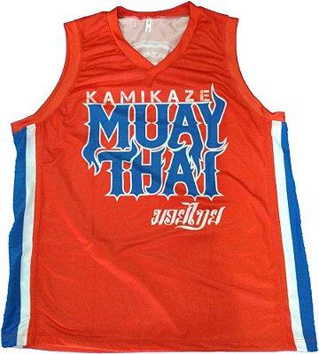 Regata Basqueteira Vermelha Muay thai