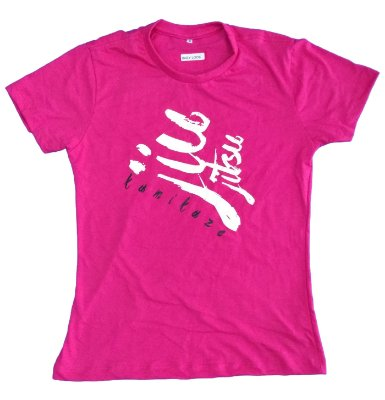 Camiseta Baby Look Jiu Rosa