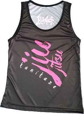 Camiseta regata feminina jiu preta