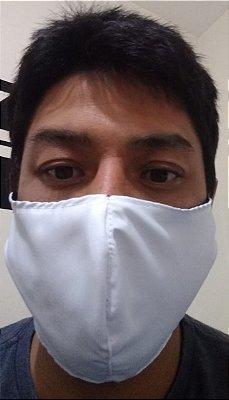 Máscara Branca Tecido duplo