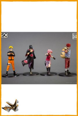 Naruto Shippuden - Pack 4 personagens - Chibi Tsume