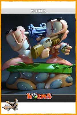 Worms Diorama Versus - First 4 Figures