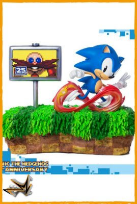 Sonic Diorama 25° Aniversário Sonic clássico - First 4 Figures (reserva de 10% do valor)