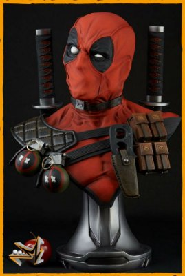 Busto Deadpool Life Size 1/1 Marvel - Sideshow (reserva de 10% do valor)