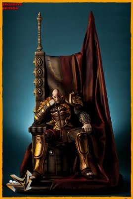 Kratos no Trono EX 1/4 God Of War - Gaming Heads