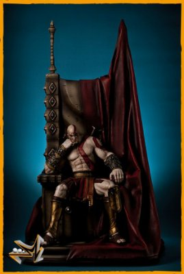 Kratos no Trono 1/4 God Of War - Gaming Heads