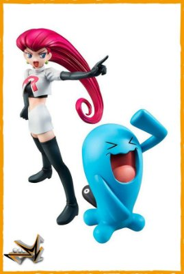 Jessie e Wobbuffet Equipe Rocket Pokémon - Megahouse