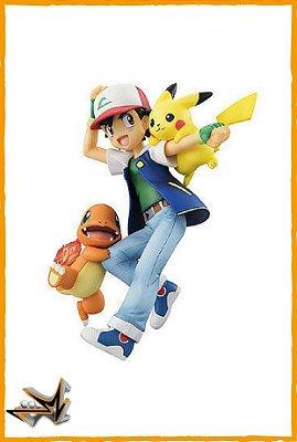 Ash Pikachu e Charmander Pokémon - Megahouse