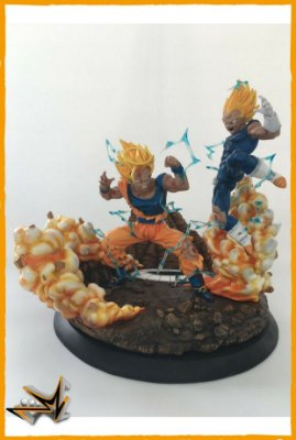 Goku Vs Majin Vegeta Diorama Dragon Ball - VKH