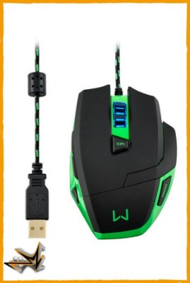 Mouse Warrior Gamer 3200DPI - Multilaser