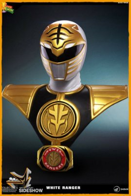 Power Ranger Branco Busto 1/1 Life-Size - Pop Culture Shock (reserva de 10% do valor)