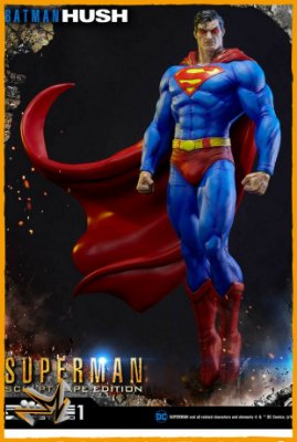Superman Fabric Cape Batman Hush 1/3 Dc Comics - Prime 1 (reserva de 10% do valor)