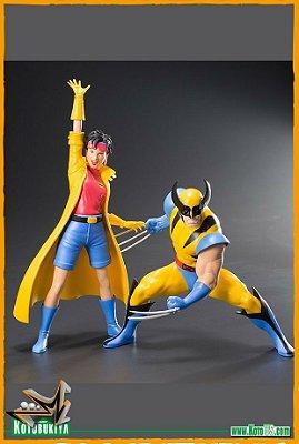 Wolverine e Jubilee X-Men Statue ArtFx Pack 92 1/10 Marvel - Kotobukiya (PRÉ-VENDA)