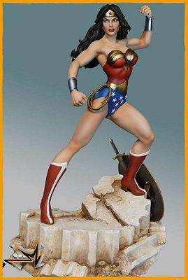 Wonder Woman 1/6 Dc Comics Maquette By Tweeterhead - Sideshow Collectibles (PRÉ-VENDA)