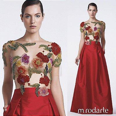 Vestido M Rodarte Saia Tafetá