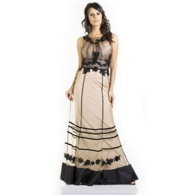 Vestido M Rodarte Festa Longo Preto