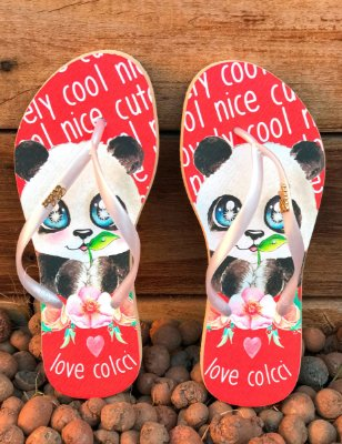 Chinelo Feminino Colcci Love Panda