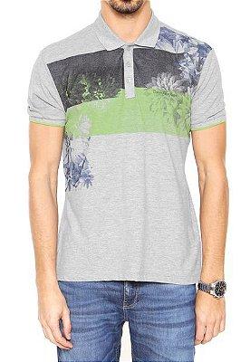 Polo Calvin Klein Jeans Estampa Faixas Verde