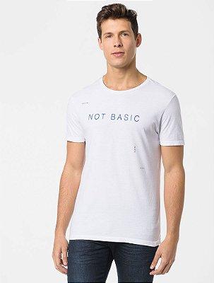 Camiseta Calvin Klein Estampa Not Basic Branco