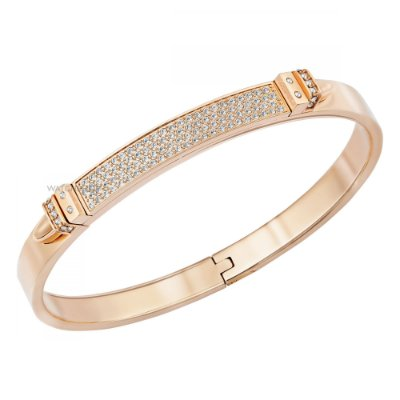 Pulseira Distinct Narrow Bangle, Rose Gold