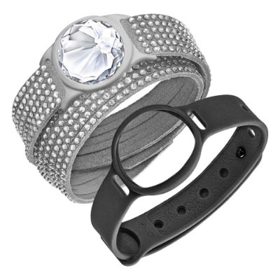 Swarovski activity tracking jewelry, Cinza