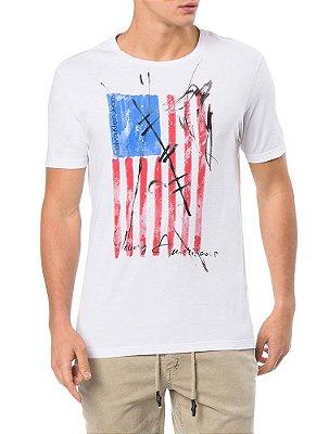 Camiseta Calvin Klein Jeans Bandeira  USA