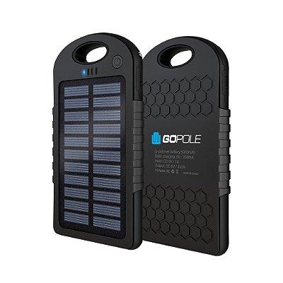 Carregador Portátil Solar Dualcharge GoPole 5.000mAh
