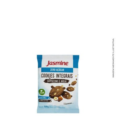 Cookies Zero Acúcar Cappuccino e Avelã 150g - Jasmine