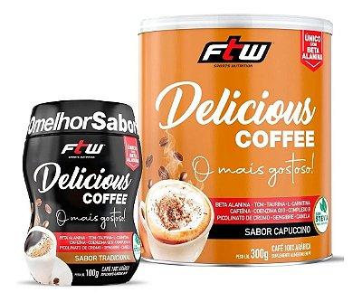 Delicious Coffee 300g Capuccino + Brinde Delicious Coffee Tradicional 100g - FTW