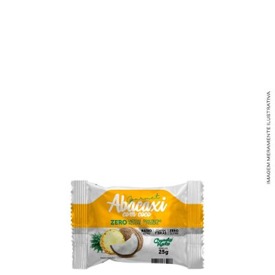 Abacaxi com Coco Zero Açúcar 25g cada  - Candy Katy